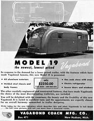 1950 Vagabond Model 19 Trailer