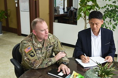 GC's Office Call with Mayor of Pyeongtaek & Chief of Police, KNP - U.S. Army Garrison Humphreys, South Korea -  1 Oct. 2019