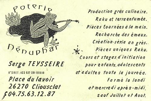 Poterie Nénuphar, Serge Teysseire, Cliousclat (Drôme)