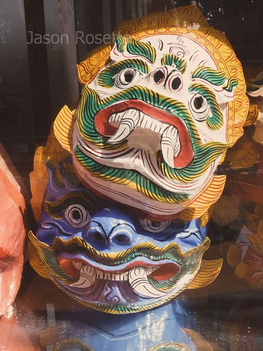 Traditional Performance Masks for Sale in Cambodia (vertical)