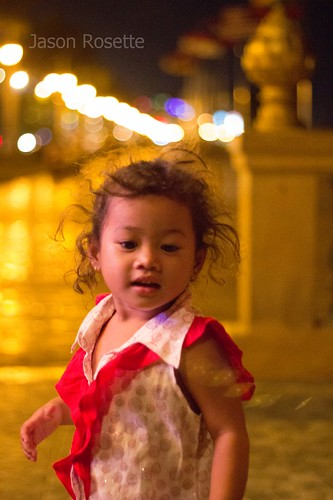 Young Cambodian Girl at Night