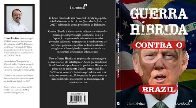 """Detalhe da capa de """"Guerra Híbrida Contra o Brasil: Golpe 'Legal', a Prisão de Lula, Fascismo e Entreguismo"""" - Créditos: Divulgação"""