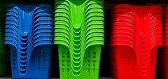 Colorful Baskets at the Dollar Store