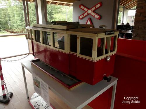 BE-6997 Pont-d'Erezée Gare Tramway Touristique de l'Aisne (TTA) Musée SNCV Autorail ART 133 im August 2019