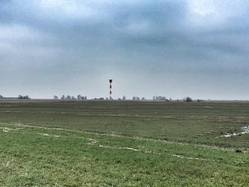 Leuchtfeuer an der Elbe