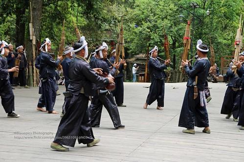 Congjiang, Basha Miao village, show - Explore