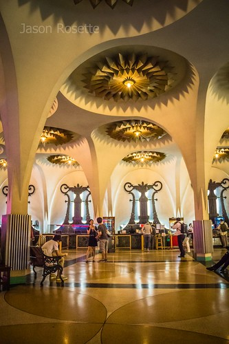Wide View, Lobby of Scala Theater in Bangkok, Thailand