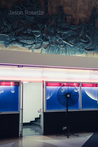 Decorative Frieze and Floor Fan, Scala Cinema, Bangkok