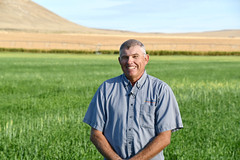 Charlie Barlow, farmer in Fletcher Gulch watershed