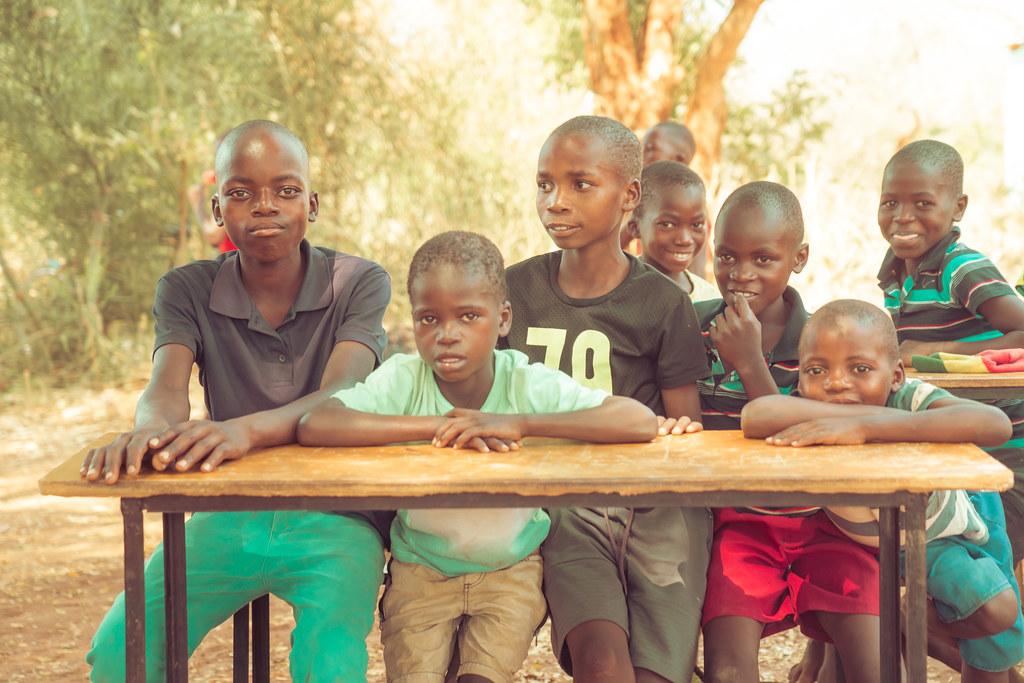 School kids in northern Zimbabwe, Africa.