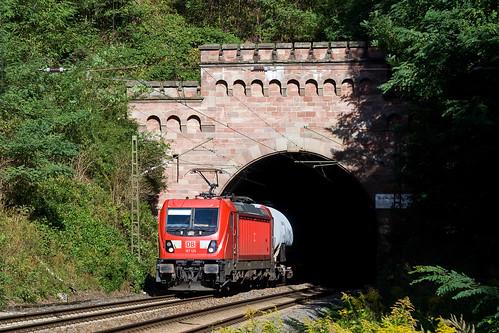 DB 187 125 + Güterzug/goederentrein/freight train  - Oberrieden