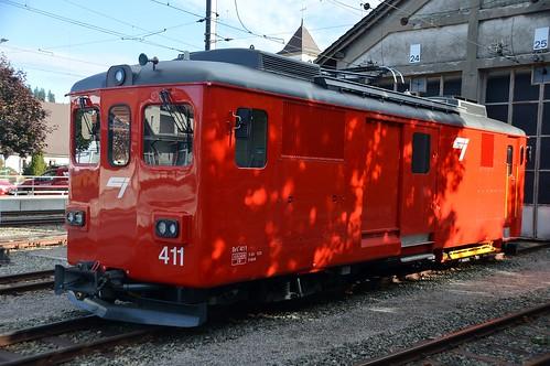 CJ De 4/4 411 Chemins de fer du Jura in Saignelégier
