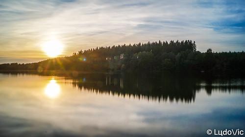 Ending a day at lake