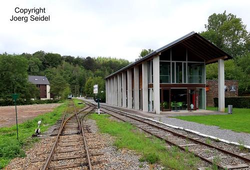 BE-6997 Pont-d'Erezée Gare Tramway Touristique de l'Aisne (TTA) im August 2019