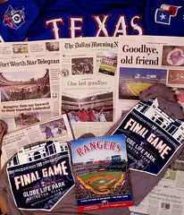 Salute to The Texas Rangers final game at the BallPark In Arlington aka Globe Life Park.