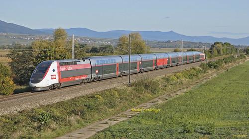 TGV Euroduplex Rame 4726 Train 9881 Luxembourg-Montpellier à Rouffach