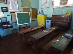 Gympie. Calico State School room from 1936. In the Gympie Gold Museum complex.