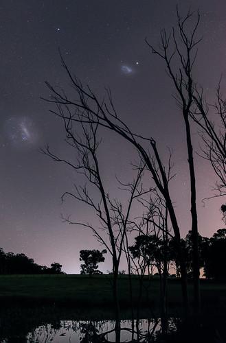 Magellanic Clouds at Bailup, Western Australia