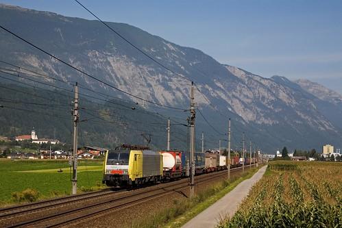 Dispolok ES 64 F4 - 026 + Güterzug/goederentrein/freight train + (ES 64 F4 - 024)  - Vomp