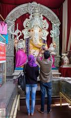 De retour du Pays de Ganesha-Ganpati, Tulsibaug Market, Pune, Maharashtra