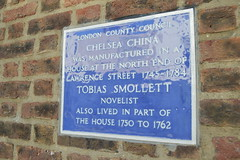 Tobias Smollett plaque