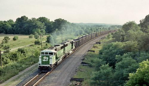 BN 9248 east in Sparta, Wisconsin on August 4, 1991.