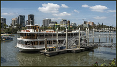 Kookaburra Queen leaving soon down Brisbane River=