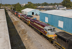 CN Train M335 w/CP Heritage Units  Memphis, Tennessee