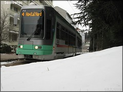 Alsthom TFS (Tramway Français Standard) – TPAS (Transports Publics de l'Agglomération Stéphanoise) (Veolia Transport) / STAS (Société de Transports de l'Agglomération Stéphanoise) n°912