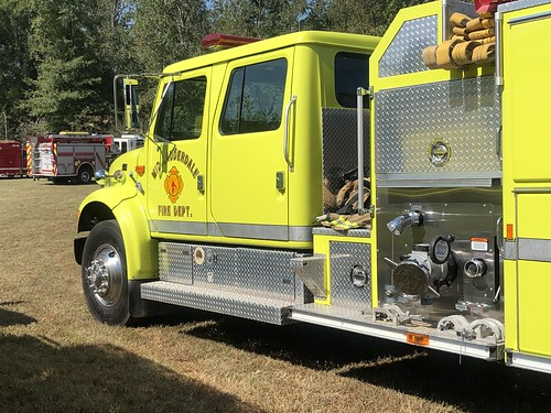 Fire trucks at Oktoberfest