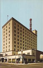 Albuquerque Hilton hotel vintage postcard - 1968