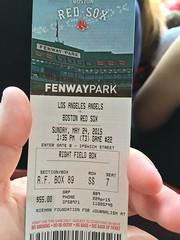 Boston Red Sox ticket