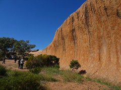 Minnipa Eyre Peninsula. A morning tea stop at  Pildappa Rocks a giant granite inselberg eroded with a wave like edge.