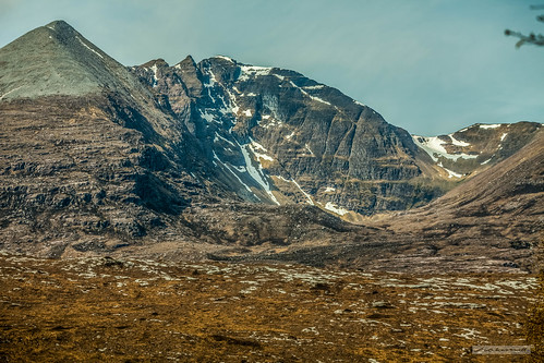 South from the Dundonnell Road, An Teallach. Four of the ten peaks that make this incredible mountain.