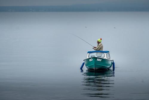 Lonesome man. No fish.