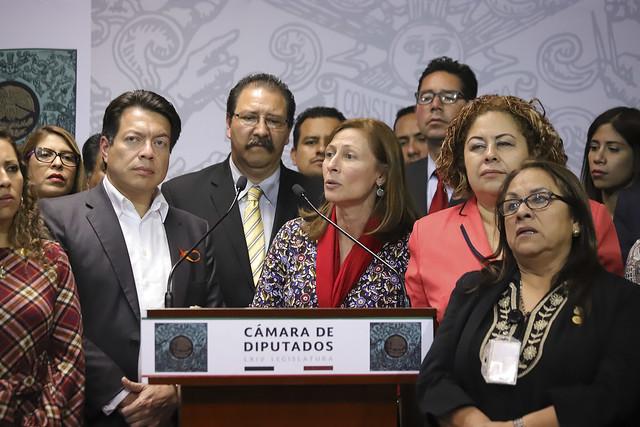 27/11/2018 Conferencia de Prensa Grupo Parlamentario Morena