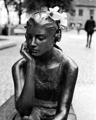 «Seated girl with headphones» by Marit Krogh | Kodak Retina 1 b