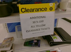 Clearance within a liquidation, the Cordova Target edition