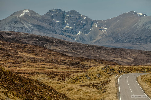 """Destitution Road,"" a view of An Teallach, North-West Highlands of Scotland."