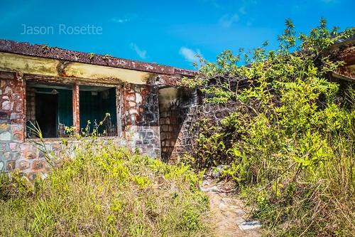 Ruins of Villa Atop Bokor Mountain, Cambodia