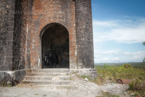 Mysterious Entrance to Defunct Colonial Church, Bokor Mountain, Cambodia