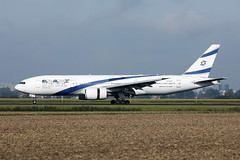 El Al Boeing B777 at Amsterdam Airport AMS