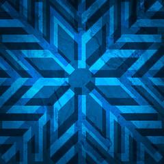 Blue Snowflake Design 2019 (Free to use)