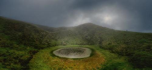 Hiking a volcano lake