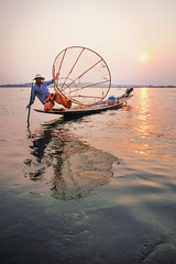 Inle Lake Leg Rowing Fisherman