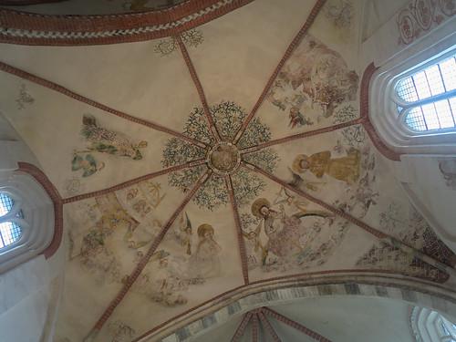 Gewelfschilderingen in de kerk van Noordbroek