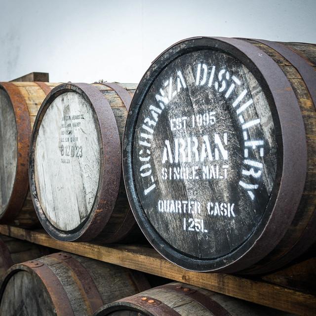 Barrels at Lochranza Distillery, Isle of Arran