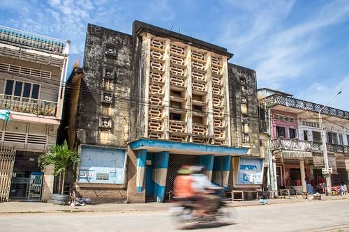 Old Makara Movie Theater in Kampot, Cambodia (#1)