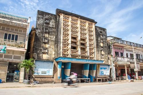 Old Makara Movie Theater in Kampot, Cambodia (#3)
