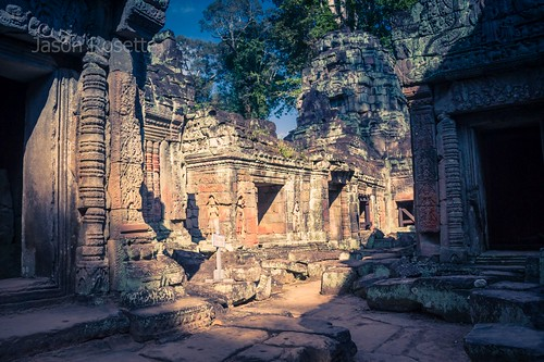 Light and Shadows in Ancient Courtyard, Angkor Wat